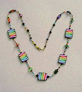 Rainbow Color Gradations Necklace